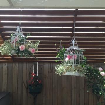 vintage birdcage flowers mill park florist