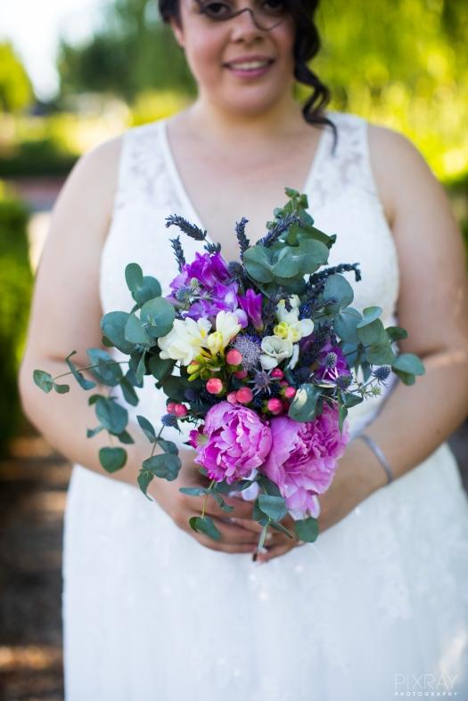 December bridal bouquet