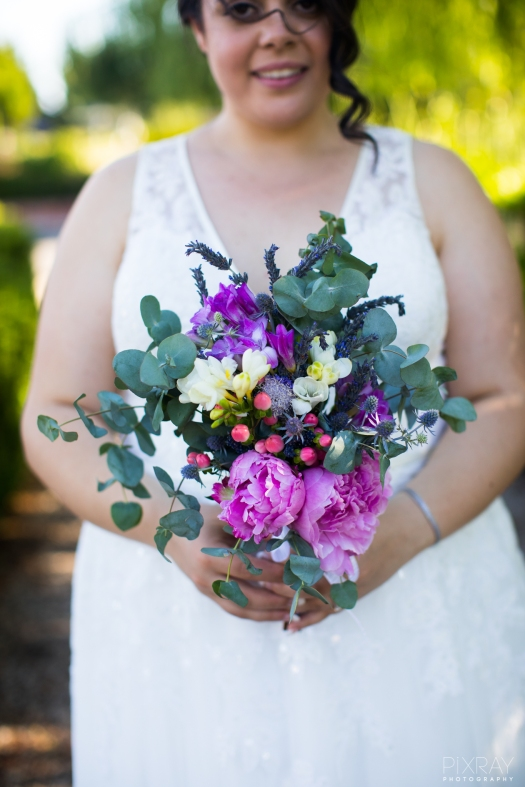 December bridal bouquet