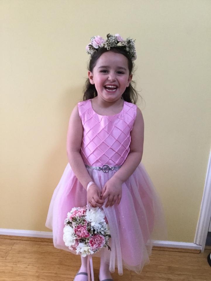 flowergirl pretty in pink mill park florist