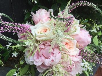 pink pastel bridal bouquet