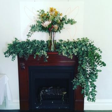 australia day natives fireplace arrangement