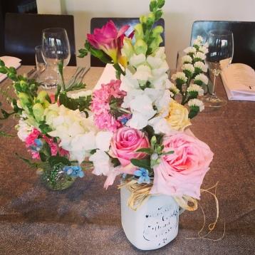 english country garden wedding centrepieces