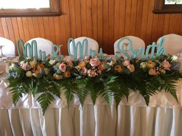 bridal table flowers garland mill park florist