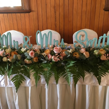 bridal table flowers garland mill park florist
