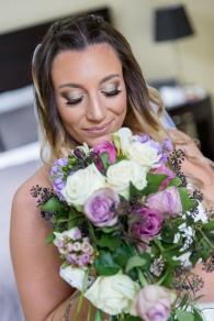 Trailing Purple Wedding Bouquet