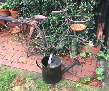 rustic bicycle prop for hire