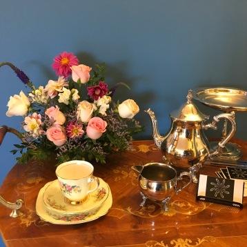 vintage silver tea service