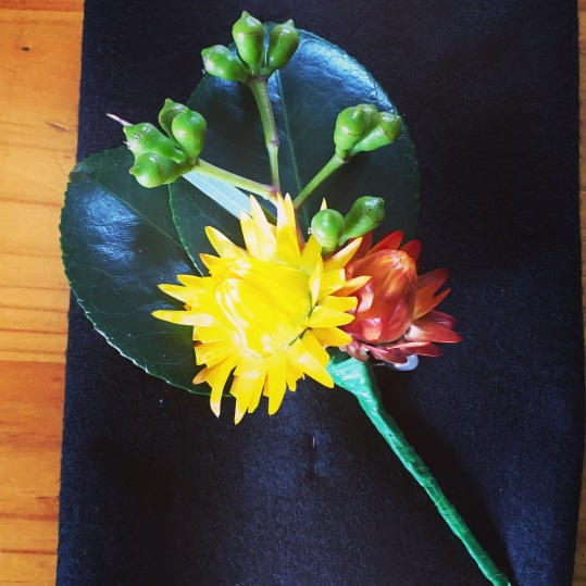 native buttonhole for groom and groomsmen vintage wedding flowers