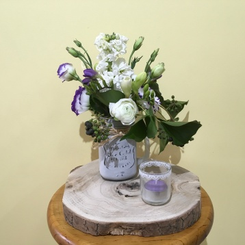 rustic mason jar table centrepiece vintage wedding flowers
