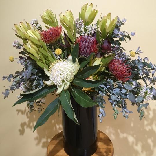 large native corporate flower arrangement mill park florist