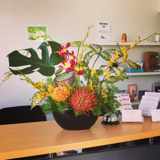 corporate tropical flowers bright colourful mill park florist