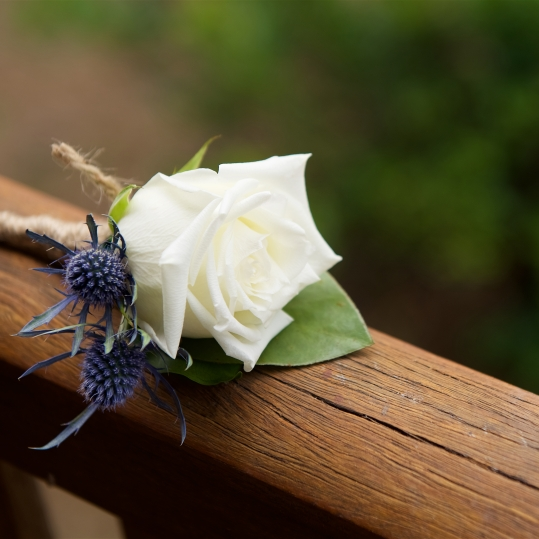 vintage rustic white rose seaholly buttonhole