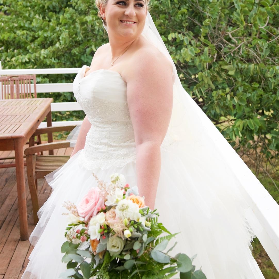 pastel trailing bridal bouquet vintage wedding florist