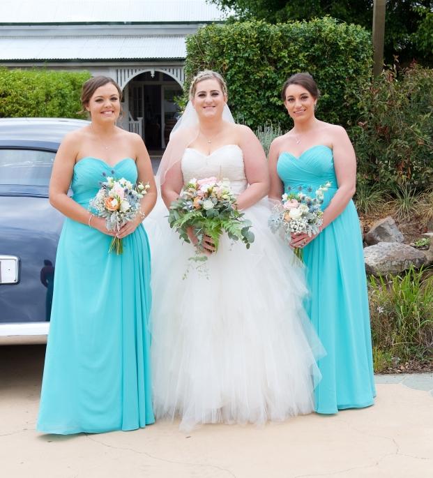 blue and white bridesmaid bouquets vintage bride mill park florist