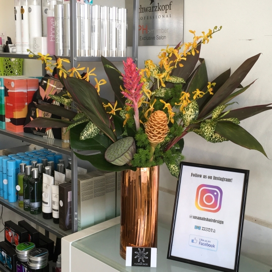 bright tropical corporate flowers hairdresser mill park florist